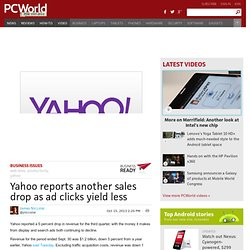 Yahoo reports another sales drop as ad clicks yield less