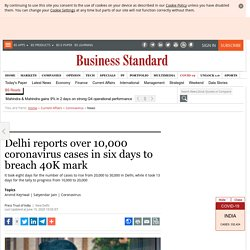 Delhi reports over 10,000 coronavirus cases in six days to breach 40K mark