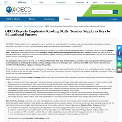 OECD Reports Emphasise Reading Skills, Teacher Supply as Keys to Educational Success