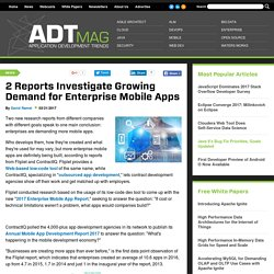 2 Reports Investigate Growing Demand for Enterprise Mobile Apps