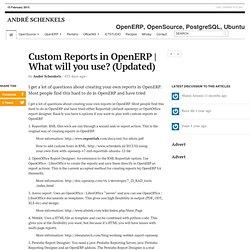 Custom Reports in OpenERP