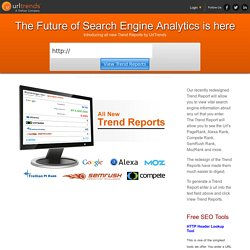 SEO Reports, Website Ranking Reports and Organic Keyword Research by UrlTrends