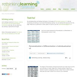 Rethinking Learning – Barbara Bray – Free Charts and Reports