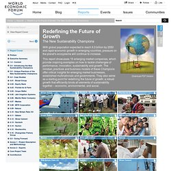 WEF Reports – New Sustainability Champions 2011
