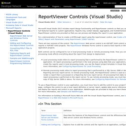 ReportViewer Controls (Visual Studio)
