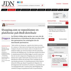 Shopping.com se repositionne en plateforme pub BtoB distribuée
