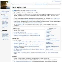 Data Repository List