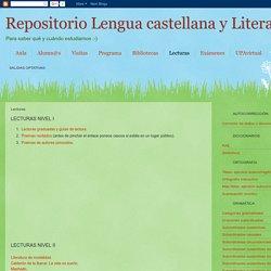 Repositorio Lengua castellana y Literatura II: Lecturas