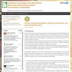 Expediente, web, blog y otros documentos del montón: Gestión Documental / Conocimiento / Contenidos.
