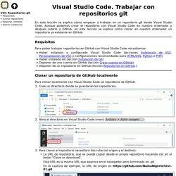 Repositorios git. Visual Studio Code. Informática. Bartolomé Sintes Marco
