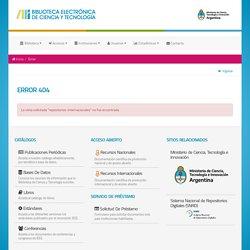 Biblioteca Electrónica de Ciencia y Tecnología - Repositorios Internacionales de Acceso Abierto