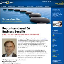 Repository-based EA Business Benefits