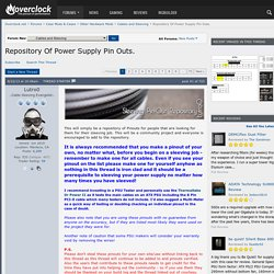 Repository Of Power Supply Pin Outs.