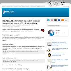 Howto: Add a new yum repository to install software under CentOS / Redhat Linux