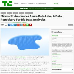Microsoft Announces Azure Data Lake, A Data Repository For Big Data Analytics