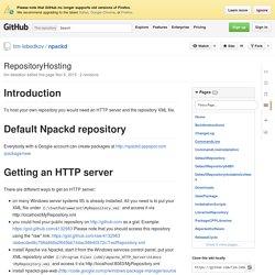 RepositoryHosting · tim-lebedkov/npackd Wiki