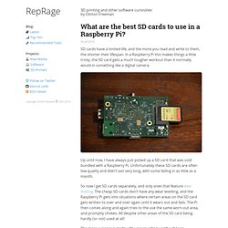 What are the best SD cards to use in a Raspberry Pi?