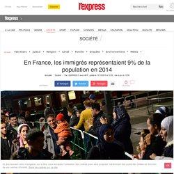 En France, les immigrés représentaient 9% de la population en 2014