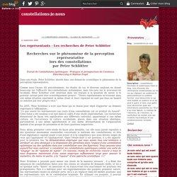 Les représentants - Les recherches de Peter Schlötter - constellations-je-nous