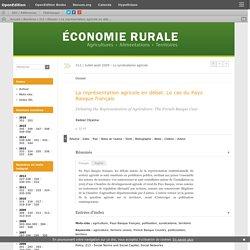 La représentation agricole en débat. Le cas du Pays Basque français