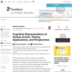 Cognitive Representation of Human Action: Theory, Applications, and Perspectives
