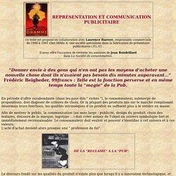 Représentation et communication publicitaire