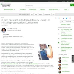 3 Tips on Teaching Media Literacy Using the Miss Representation Curriculum