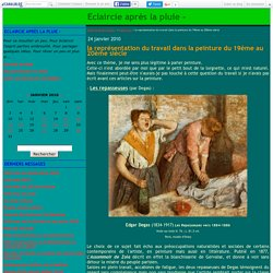 la représentation du travail dans la peinture du 19ème et au 20ème siècle