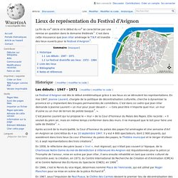 Lieux de représentation du Festival d'Avignon