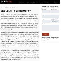 Exclusive Representation Service Provider in Bangalore