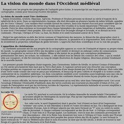 Publius Historicus : La representation TO du monde au Moyen-Age