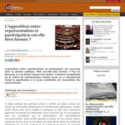 L'opposition entre représentation et participation est-elle bien formée (...)