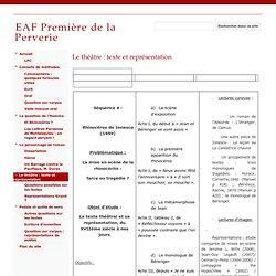 Le théâtre : texte et représentation - EAF Première de la Perverie