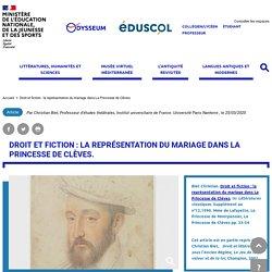Droit et fiction : la représentation du mariage dans La Princesse de Clèves.