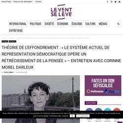 """Théorie de l'effondrement : """"Le système actuel de représentation démocratique opère un rétrécissement de la pensée"""" - Entretien avec Corinne Morel Darleux"""