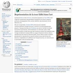 Représentation de la tour Eiffel dans l'art