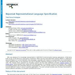 NEPOMUK Representational Language (NRL)