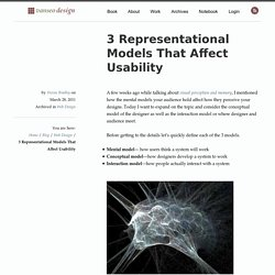 3 Representational Models That Affect Usability