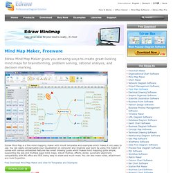 Mind Mapping Software - Create mind maps (graphical representations of thought processes) for brainstorming, problem solving, rational analysis, and decision marking.