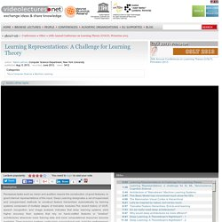 Learning Representations: A Challenge for Learning Theory