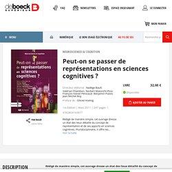 Peut-on se passer de représentations en sciences cognitives ?