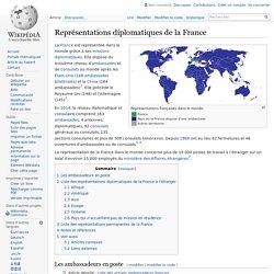 Représentations diplomatiques de la France