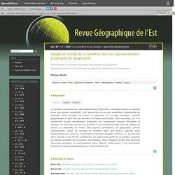 Usages et limites de la symétrie dans les représentations graphiques en géographie