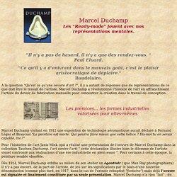 """Les """"Ready-made"""" de Marcel Duchamp : un jeu avec les représentations mentales"""