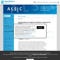 Représentations et usages du traducteur en ligne par les lycéens