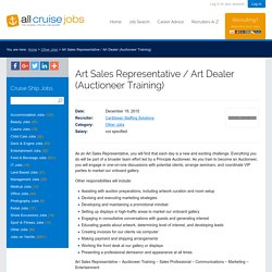 Cruise Ship Jobs - Art Sales Representative / Art Dealer (Auctioneer Training)