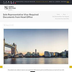 Sole Representative Visa: Required Documents from Head Office -