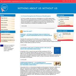 Europe : La voix représentative des personnes handicapées en Europe