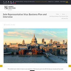 Sole Representative Visa: Business Plan and Interview - Mann's Solutions -