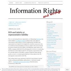 ICO and Article 27 representative liability